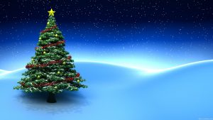 Beautiful-Christmas-Tree-with-Blue-Desktop-Background1